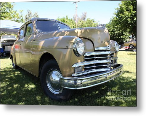 Transportation Metal Print featuring the photograph 1949 Plymouth Delux Sedan . 5d16207 by Wingsdomain Art and Photography