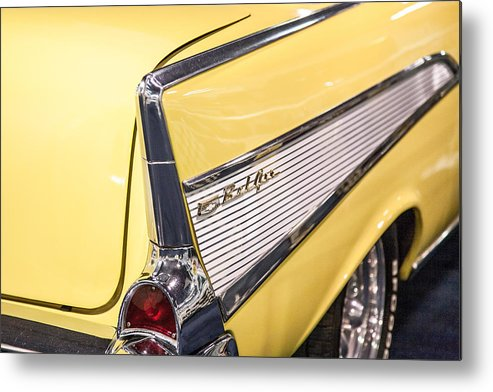 Car Metal Print featuring the photograph 1957 Chevy Belair by Kathleen Nelson