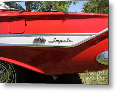 1961 Chevrolet Impala Ss Metal Print featuring the photograph 1961 Chevrolet Impala Ss Convertible . 5d16266 by Wingsdomain Art and Photography