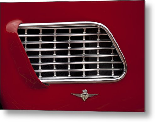 1960 Maserati 3500 Gt Coupe Metal Print featuring the photograph 1960 Maserati 3500 Gt Coupe Emblem by Jill Reger