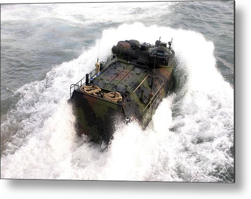 Aav Metal Print featuring the photograph An Amphibious Assault Vehicle by Stocktrek Images