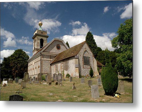 St. Lawrence Metal Print featuring the photograph Church Of St. Lawrence West Wycombe by Chris Day