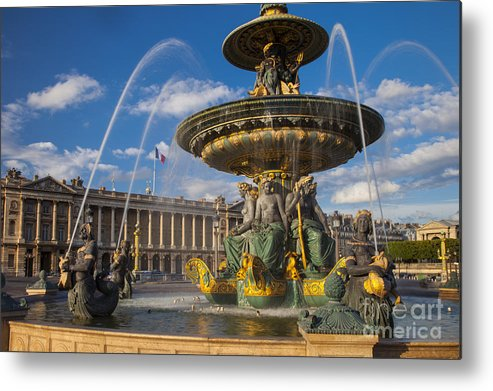 Architectural Metal Print featuring the photograph Place De La Concorde by Brian Jannsen