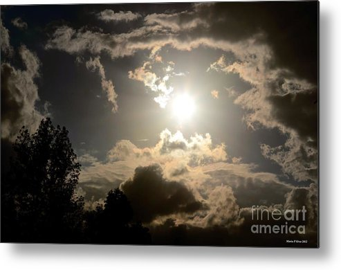 2012 Sunset October 26 Metal Print featuring the photograph 2012 Sunset October 26 by Maria Urso