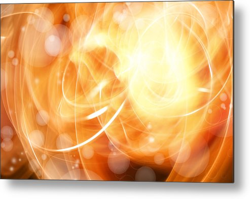 Abstract Metal Print featuring the photograph Abstract Background by Les Cunliffe