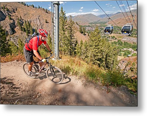 David Weber Metal Print featuring the photograph Mountain Bike by Elijah Weber