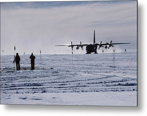 Aeroplane Metal Print featuring the photograph Antarctic Airfield by David Vaughan