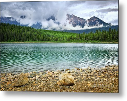Lake Metal Print featuring the photograph Mountain Lake In Jasper National Park by Elena Elisseeva