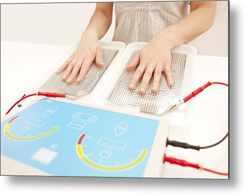 Indoors Metal Print featuring the photograph Iontophoresis For Excess Sweating by