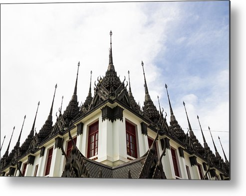 Architecture Metal Print featuring the photograph Loha Prasat The Metal Palace by Chaichan Ingkawaranon