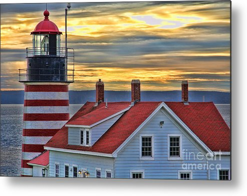 West Quoddy Head Lighthouse Metal Print featuring the photograph West Quoddy Head Lighthouse 3822 by Jack Schultz
