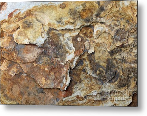 Nature Metal Print featuring the photograph Natures Rock Art by Jack R Brock