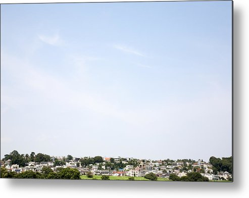 Horizontal Metal Print featuring the photograph A Distant View Of The Residential District by Kohei Hara