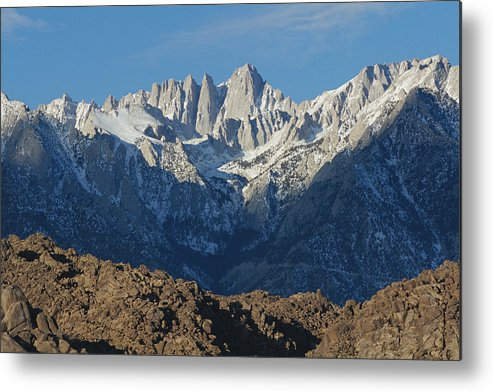 Scenes And Views Metal Print featuring the photograph A Panoramic View Of Mount Whitney by Marc Moritsch