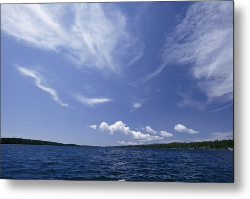 Isle Royale National Park Metal Print featuring the photograph A View Of Lake Superior And Sky At Isle by Phil Schermeister