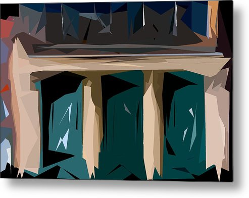 Abstract Metal Print featuring the photograph Abstract 21 by Burney Lieberman