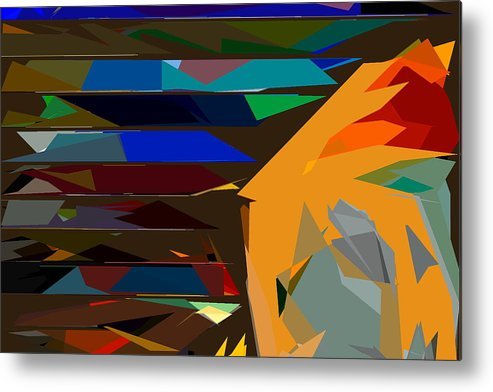Abstract Metal Print featuring the photograph Abstract 22 by Burney Lieberman