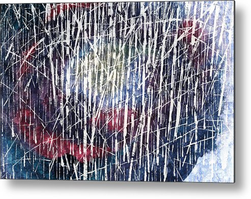 Abstract Metal Print featuring the painting Abstract Acrylic by Panupong Roopyai