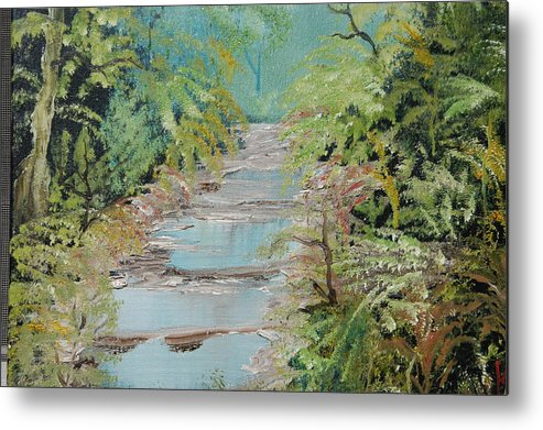 Florida Canopy Metal Print featuring the painting After The Rain by Katheryn Napier