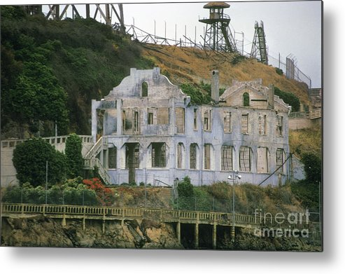 Alcatraz Metal Print featuring the photograph Alcatraz Skeleton by Paul W Faust - Impressions of Light
