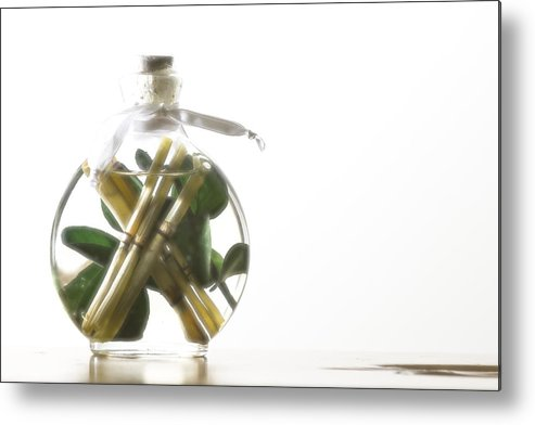 Conceptual Metal Print featuring the photograph All Bottled Up by Jeremy Bartlett