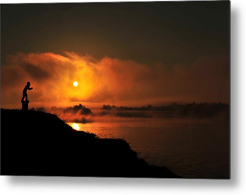 Ohio River Metal Print featuring the photograph Along The Ohio 2 by Donna Caplinger