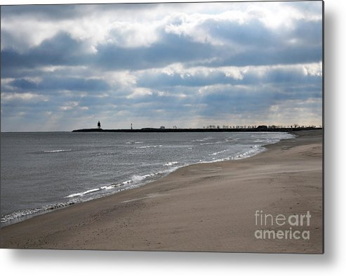 Beach Metal Print featuring the photograph Along The Shore by Dan Holm