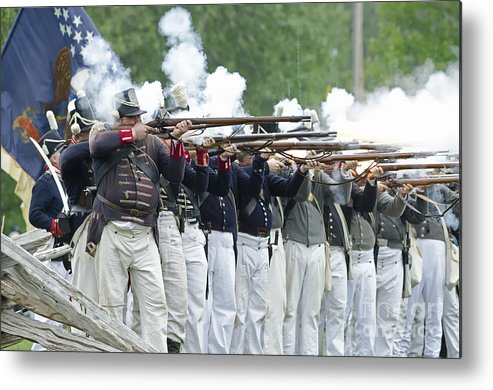 War Of 1812 Metal Print featuring the photograph American Firing Line by JT Lewis