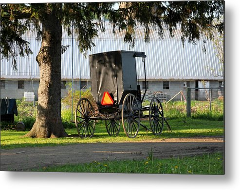 Amish Metal Print featuring the photograph Amish Buggy by Beverly Kobee