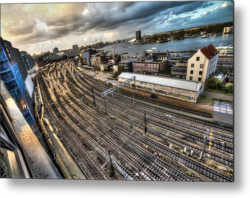 Tracks Metal Print featuring the photograph Amsterdam Central Station by Daniel Fornies Soria
