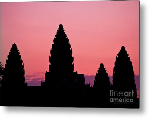 Angkor Metal Print featuring the photograph Angkor Sunrise by Kim Vetten