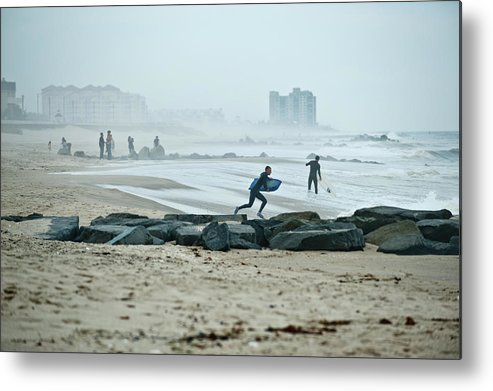 Surfing Metal Print featuring the photograph Anticipation For Surf by Russ Meseroll