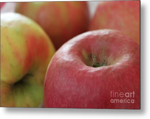 Apples Metal Print featuring the photograph Apples To Apples by Stephanie Peters