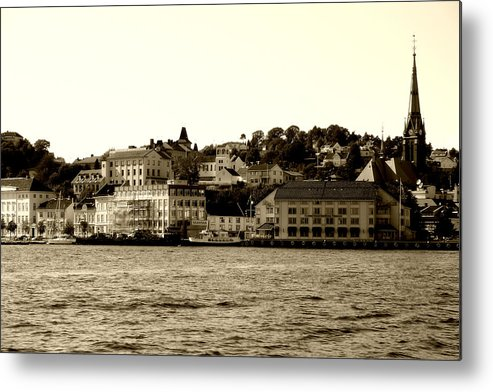 Architecture Metal Print featuring the photograph Arendal Cityscape by Nina Fosdick