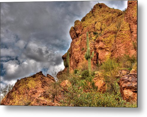 Arizona Metal Print featuring the photograph Arizona Where The Old Man Retired by Mark Valentine