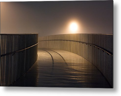 Fog Metal Print featuring the photograph Around The Bend by Gisli Fridrik Agustsson