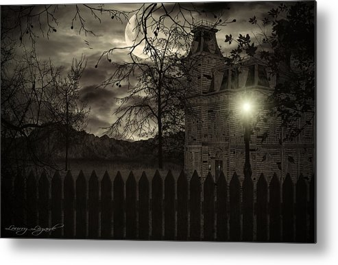 Haunted House Metal Print featuring the photograph Arrival by Lourry Legarde