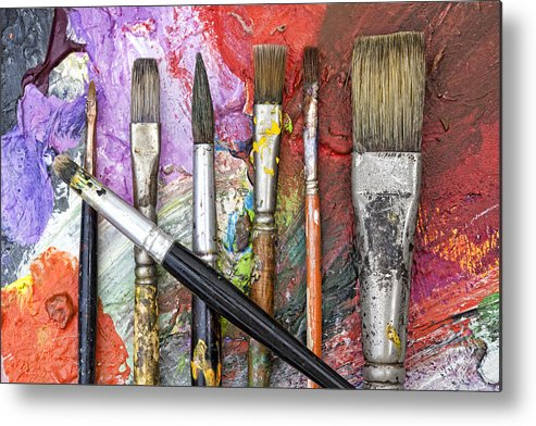 Art Metal Print featuring the photograph Art Is Messy 6 by Carol Leigh