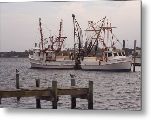 Fishing Trawlers Metal Print featuring the photograph At Rest 2 by Michael Mischley
