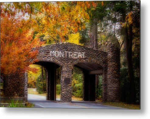 Asheville Metal Print featuring the photograph Autumn Gate by Joye Ardyn Durham