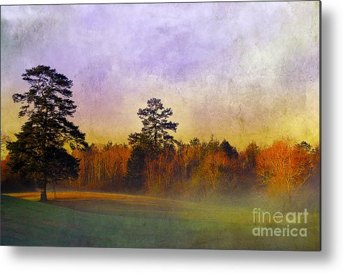 Mist Metal Print featuring the photograph Autumn Morning Mist by Judi Bagwell