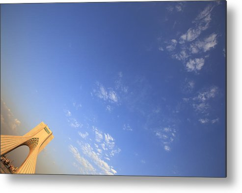 Horizontal Metal Print featuring the photograph Azadi Tower Monument In Tehran by Massimo Pizzotti