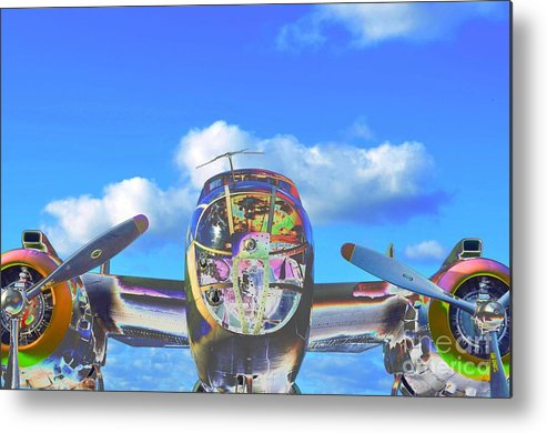 North American B-25j Mitchell Metal Print featuring the photograph B-25j Jazzed by Lynda Dawson-Youngclaus