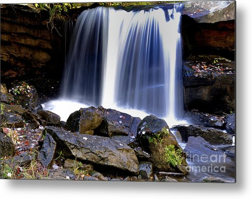 Babcock State Park Metal Print featuring the photograph Babcock State Park Waterfall by Thomas R Fletcher