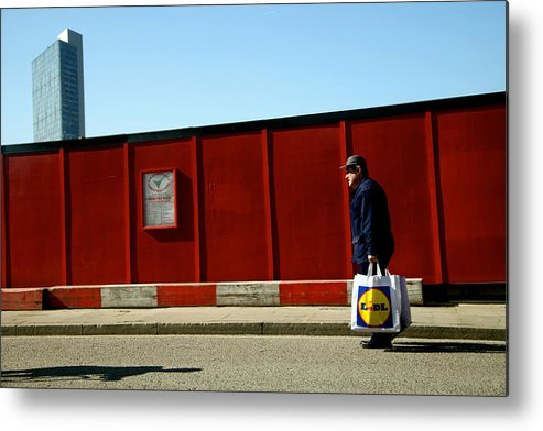 Jezcself Metal Print featuring the photograph Back From The Lidl Walk by Jez C Self