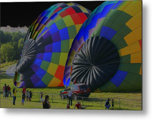 Balloons Metal Print featuring the photograph Balloon Dreamscape 4 by Rick Rauzi