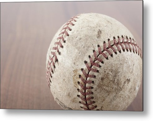 Horizontal Metal Print featuring the photograph Baseball by Photo Division