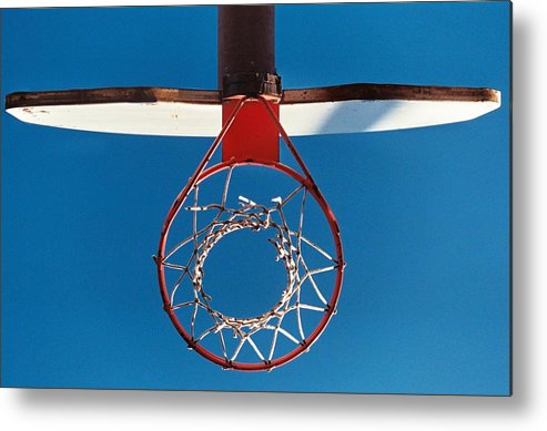 Uptown Arts Metal Print featuring the photograph Basketball Goal by Paul Louis Mosley