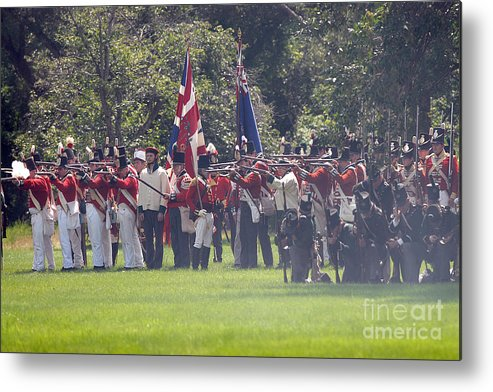 Siege Metal Print featuring the photograph Battle 15 by JT Lewis