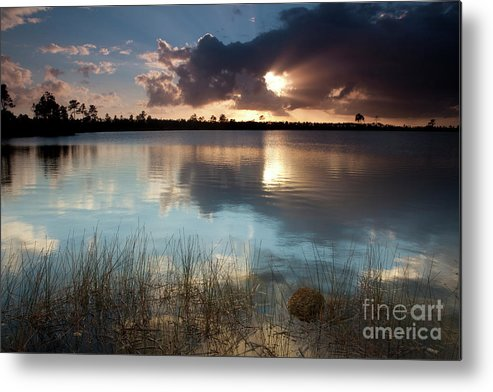 Water Photography Metal Print featuring the photograph Beams Of Light by Keith Kapple